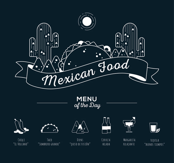 墨西哥食物菜单