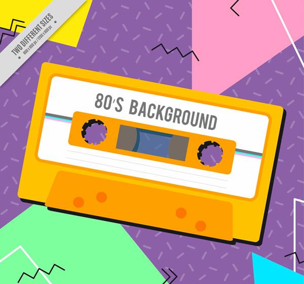 磁带80年代背景