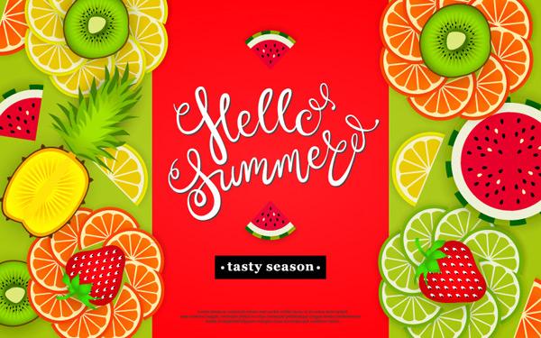 你好夏季海报