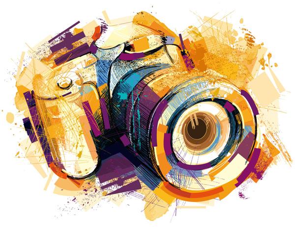 手绘数码相机