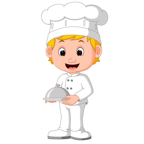 关键词: 端着餐盘的卡通厨师矢量素材,卡通厨师,小厨师,厨师帽,可爱