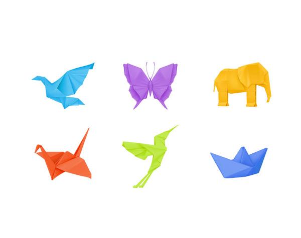 彩色折纸小动物