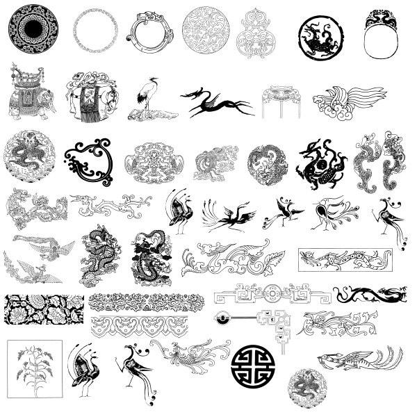 0 点 关键词: 传统花纹图案矢量素材,花纹,花边,边框,纹样,样式,图案