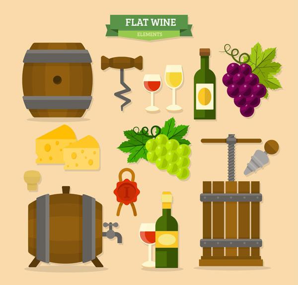 素材分类: 矢量其它食品所需点数: 0 点 关键词: 14款扁平化葡萄酒