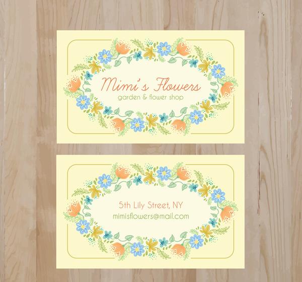 花卉装饰名片