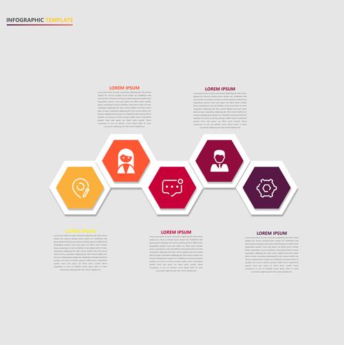 矢量图,设计素材,创意设计,信息图表,抽象,几何,,边框,多边形,六边形