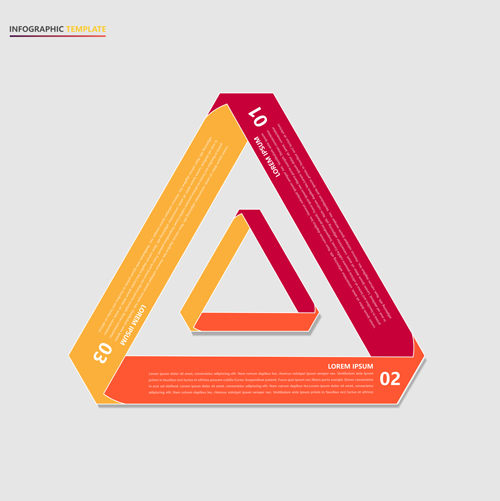 矢量图,设计素材,创意设计,流程图表,信息图表,潮流,时尚,红色,三角形