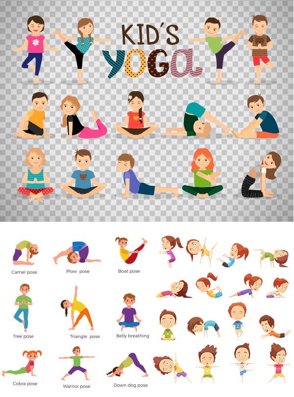 其它所需点数: 0 点 关键词: 卡通瑜伽人物矢量素材,可爱,卡通,瑜伽