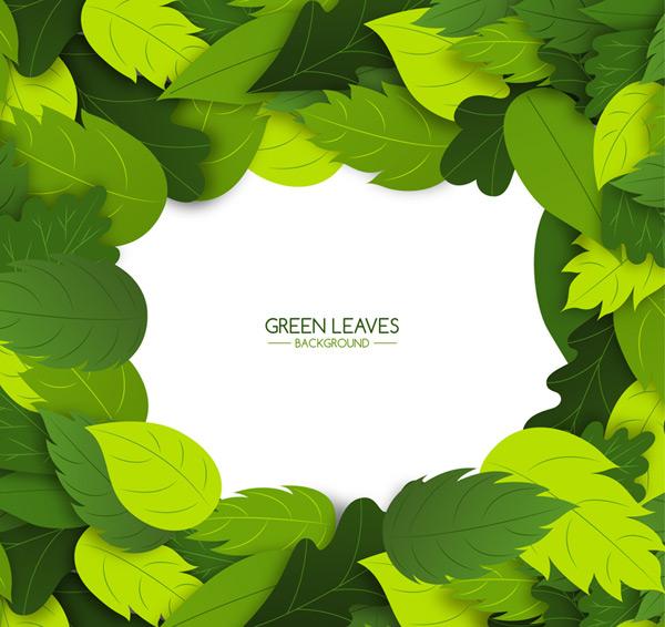 绿叶边框背景
