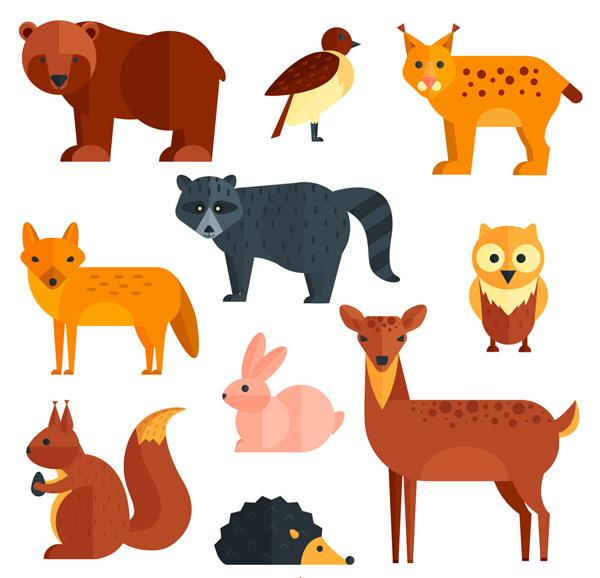 素材分类: 矢量野生动物所需点数: 0 点 关键词: 10款扁平化动物设计