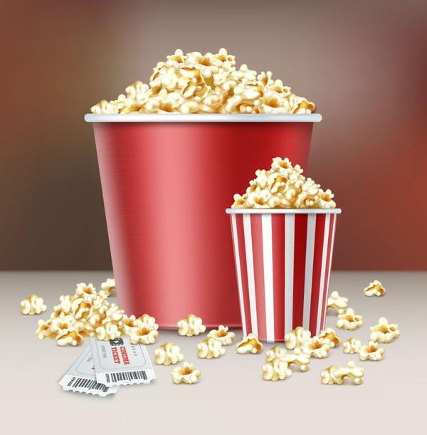 素材分类: 矢量美食所需点数: 0 点 关键词: 2桶美味电影院爆米花