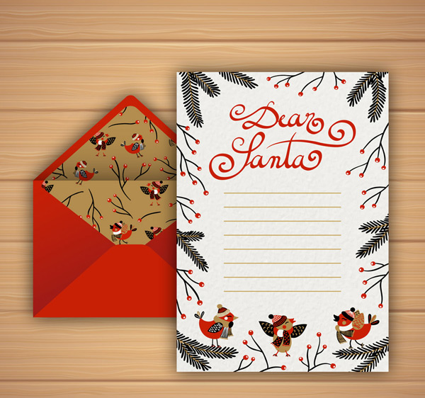 素材分类: 矢量圣诞节所需点数: 0 点 关键词: 可爱圣诞信纸和信封