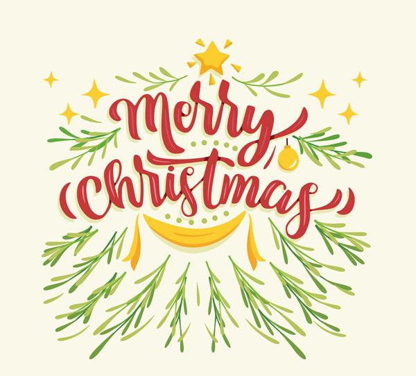 矢量圣诞节所需点数: 0 点 关键词: 彩绘圣诞快乐艺术字矢量素材,星星图片