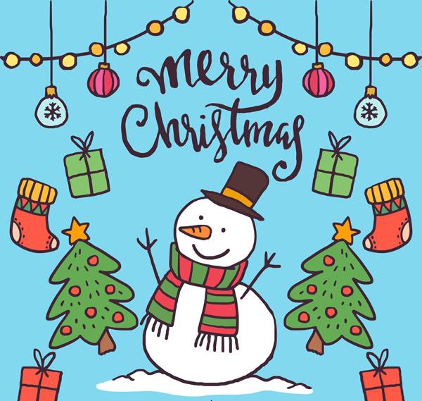 0 点 关键词: 可爱彩绘圣诞雪人和圣诞元素矢量素材,圣诞吊饰,礼盒