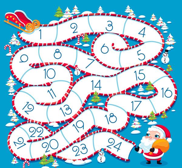 素材分类: 矢量圣诞节所需点数: 0 点 关键词: 创意圣诞老人和迷宫