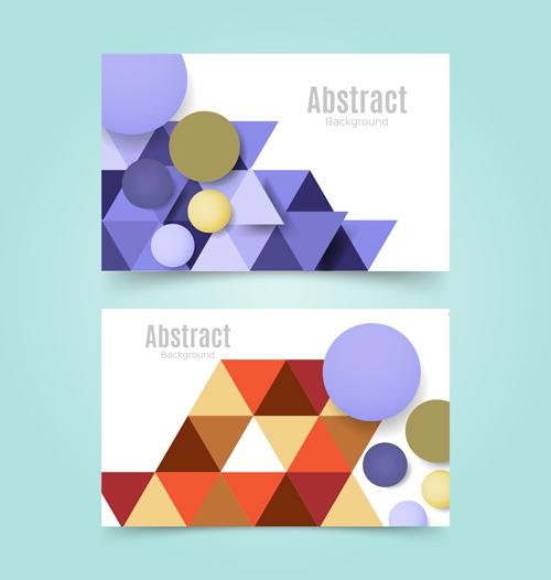 多彩抽象元素背景