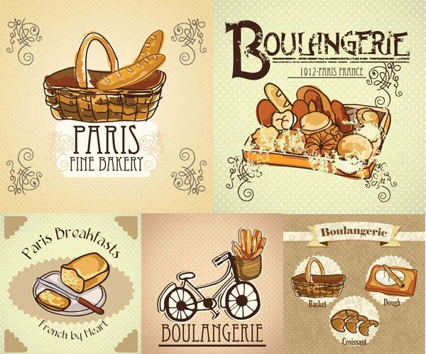 Cartoon bread illustration