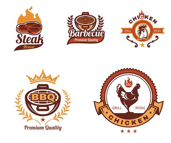 标志设计,logo设计,bbq,烧烤,餐饮,饮食,公鸡,火苗,火焰,五角星,烧烤