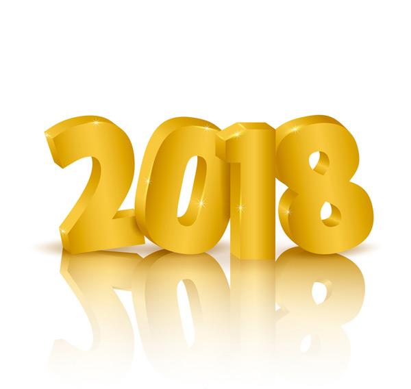 素材分类: 矢量元旦所需点数: 0 点 关键词: 金色立体2018艺术字矢量