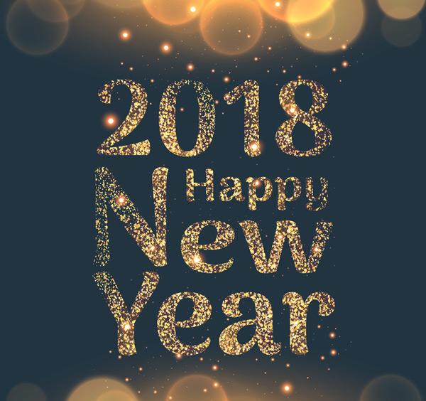 矢量元旦所需点数: 0 点 关键词: 2018年新年金粉艺术字矢量素材
