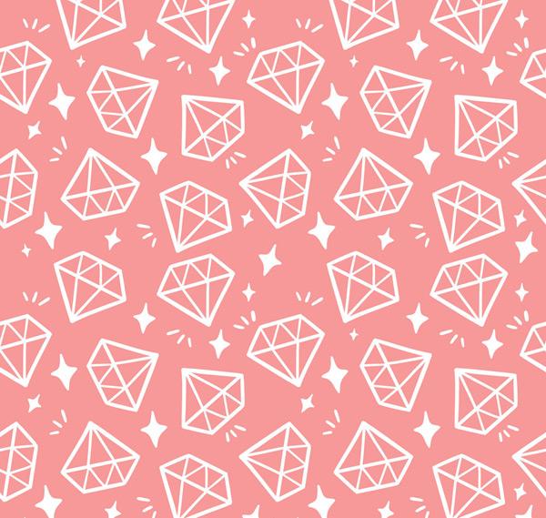 粉底钻石无缝背景