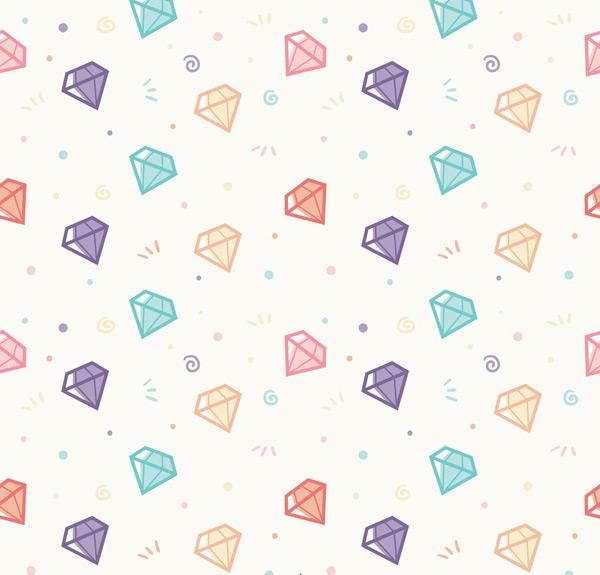 彩色钻石无缝背景