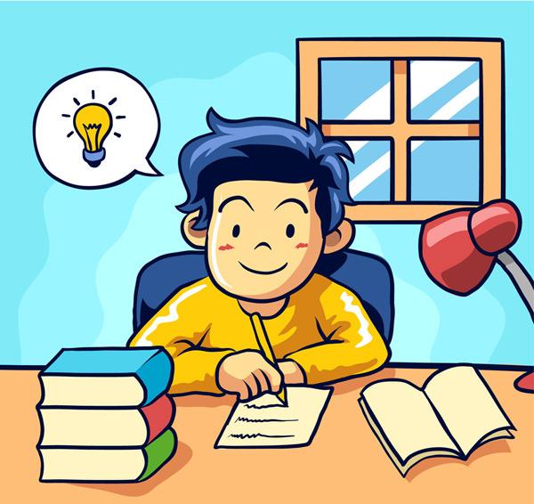 写作业的男孩_素材中国sccnn.com
