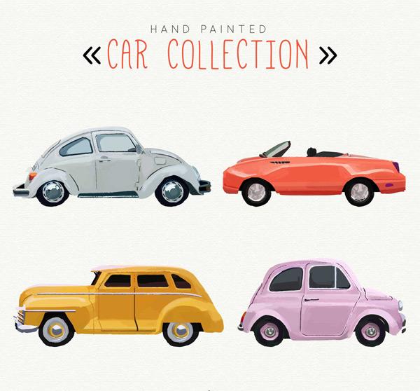 点 关键词: 4款手绘彩色车辆矢量素材,手绘,车辆,轿车,老爷车,敞篷车