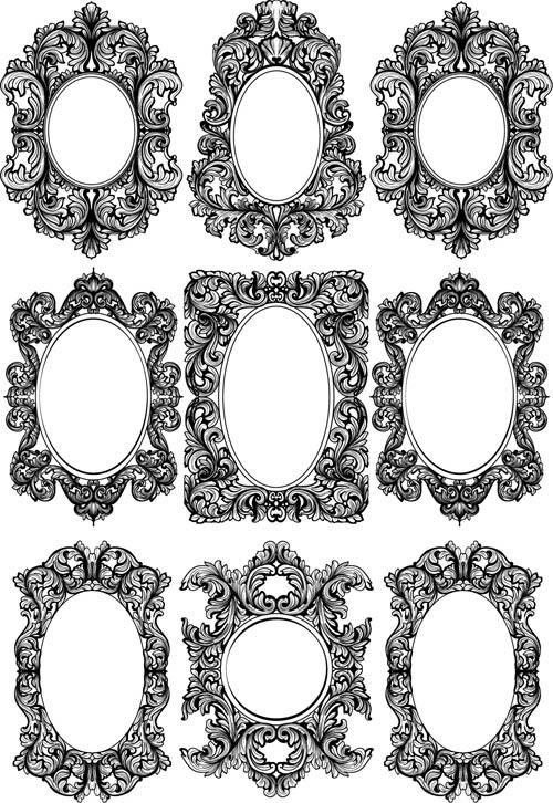 设计素材,古典,传统,复古,怀旧,欧式,花纹,花边,装饰,边框,椭圆形