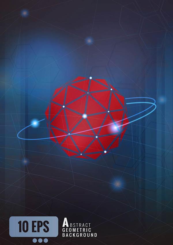 抽象几何球形背景