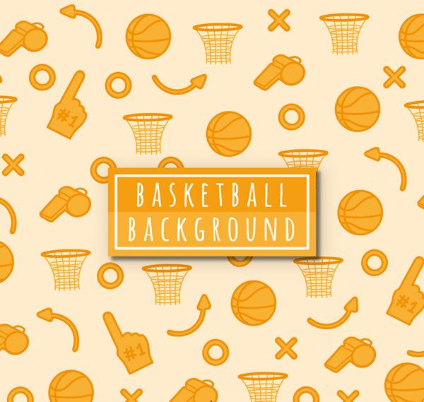 篮球元素无缝背景