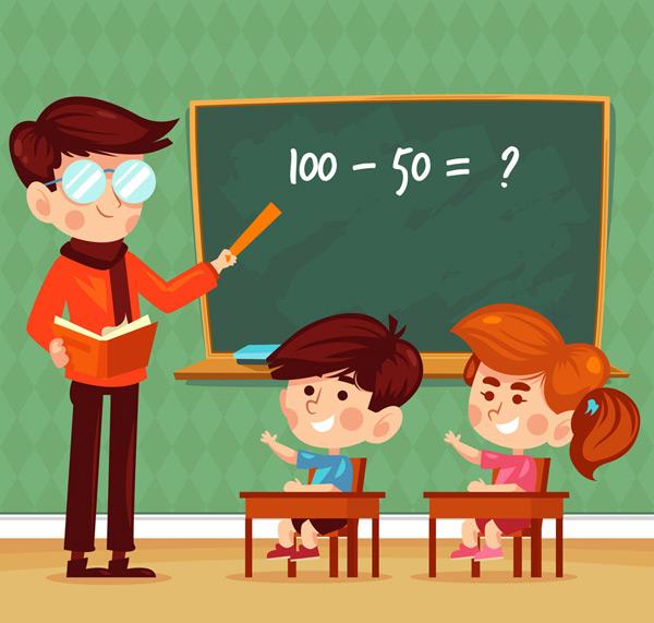 老师和儿童矢量_素材中国sccnn.com