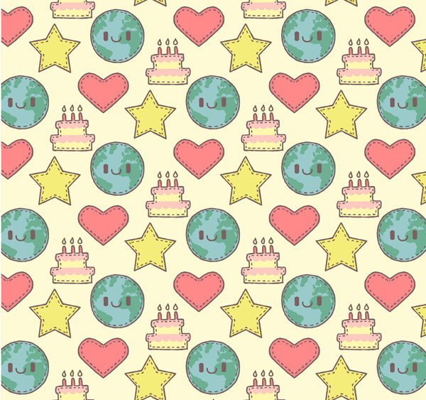 地球和星星背景