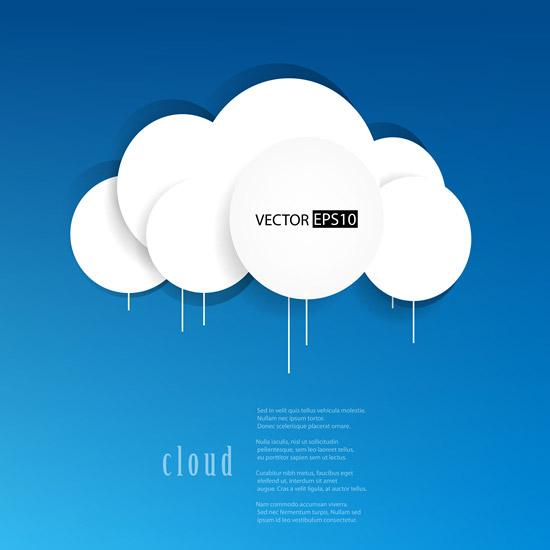 云朵马克笔效果图手绘
