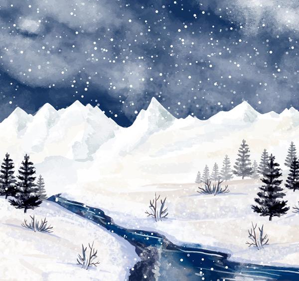 冬季河流风景