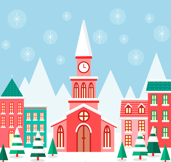 冬季小城风景