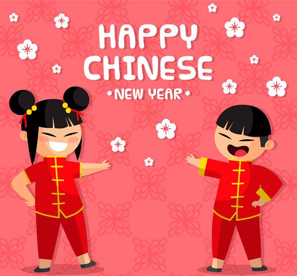 春节男孩和女孩_素材中国sccnn.com