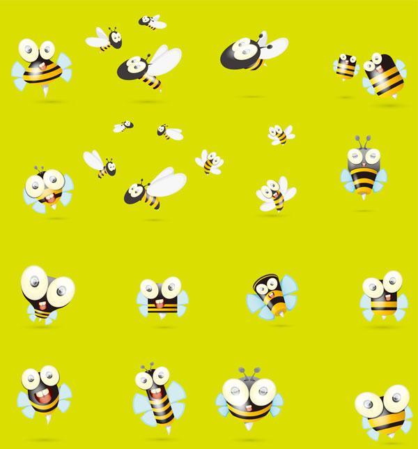卡通小蜜蜂矢量