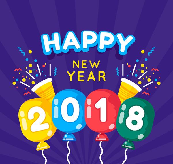 2018气球贺卡