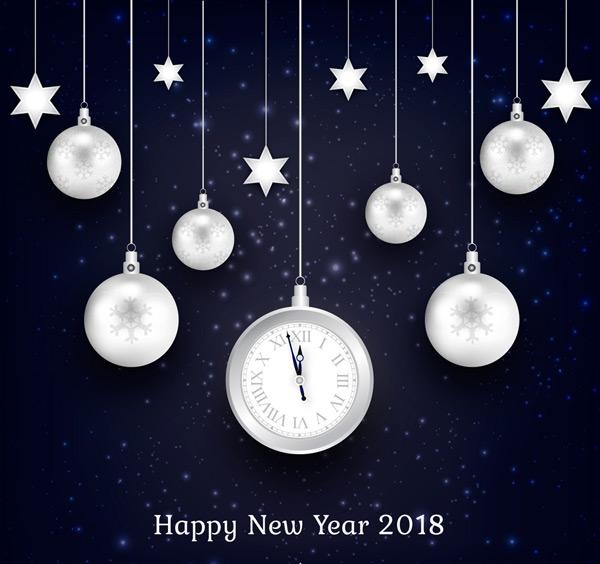 2018节日吊球贺卡