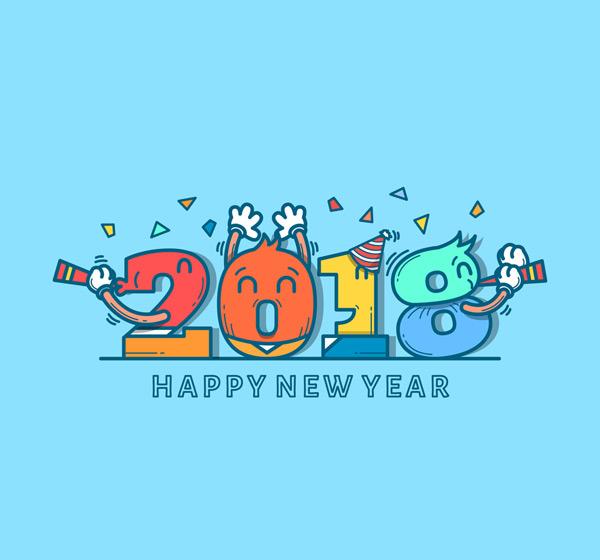 0 点 关键词: 可爱2018年新年艺术字矢量素材,新年快乐,2018年,艺术