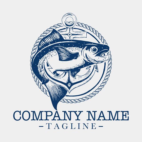 鱼商务公司标志