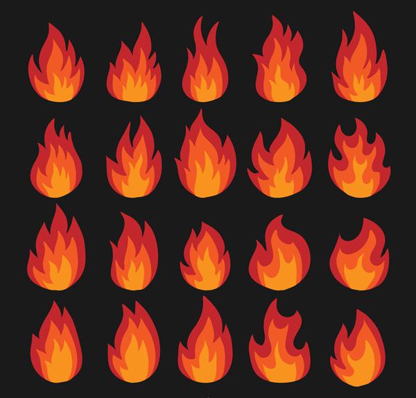 红色火焰设计
