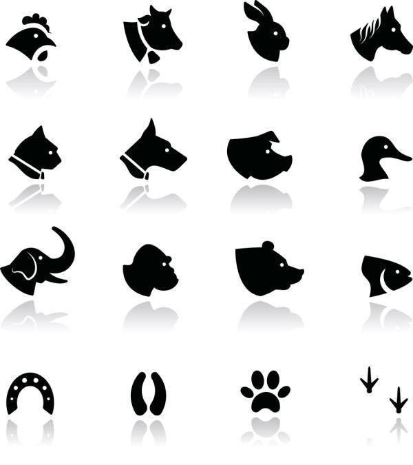 动物剪影矢量_素材中国sccnn.com