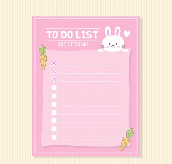 兔子待办事项清单