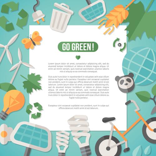 环保节能主题矢量