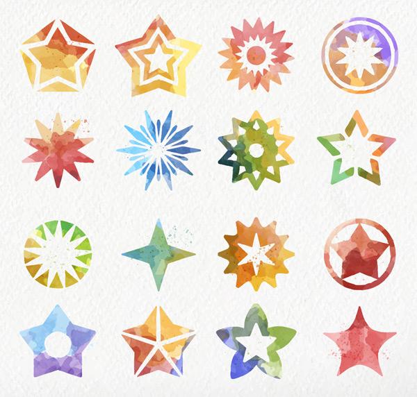 彩绘星星图标