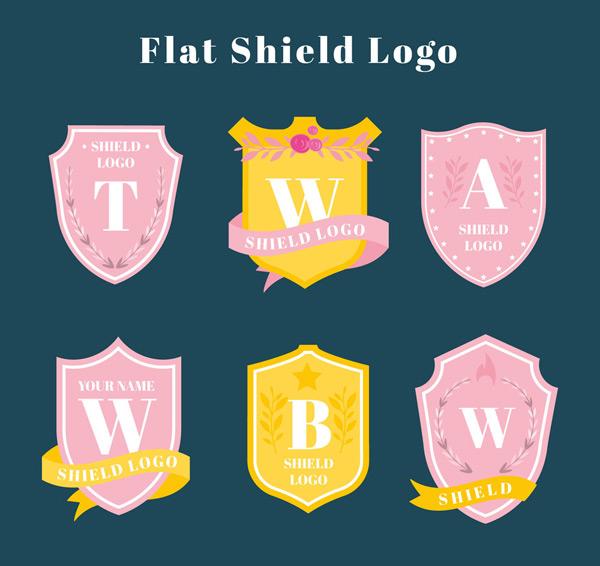彩色字母盾牌标志