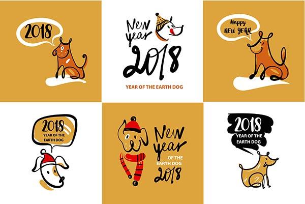 0 点 关键词: 2018新年卡通狗,简笔画,卡通狗,圣诞狗,帽子,围巾,eps