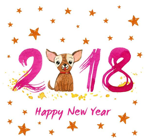 0 点 关键词: 彩绘可爱狗贺卡矢量素材,彩绘,狗,贺卡,2018年,星星,矢